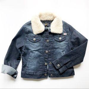 Lucky Brand Stevie Faux Fur Denim (Unisex) Size: 5